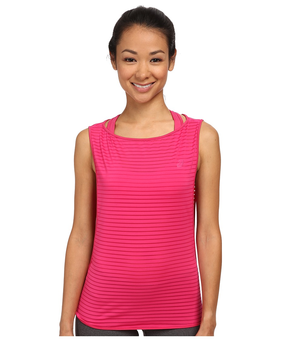 ASICS - Cleo Pop Double Tank (Ultra Pink) Women's Workout