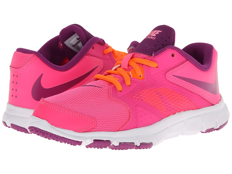 Nike Kids - Flex Supreme TR 3 (Little Kid/Big Kid) (Pink Pow/Total Orange/White/Bold Berry) Girls Shoes
