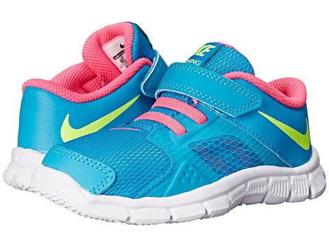 Nike Kids - Flex Supreme TR 3 (Infant/Toddler) (Blue Lagoon/Pink Pow/White/Volt) Girls Shoes