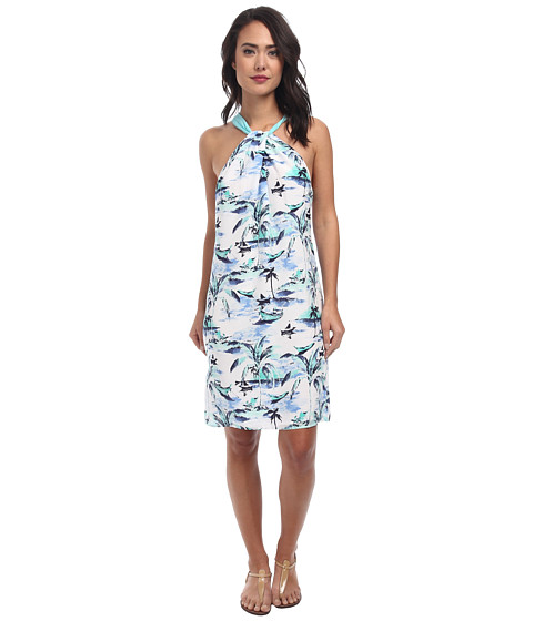 Tommy Bahama - Island Bliss Halter Dress (Blue Yonder) Women
