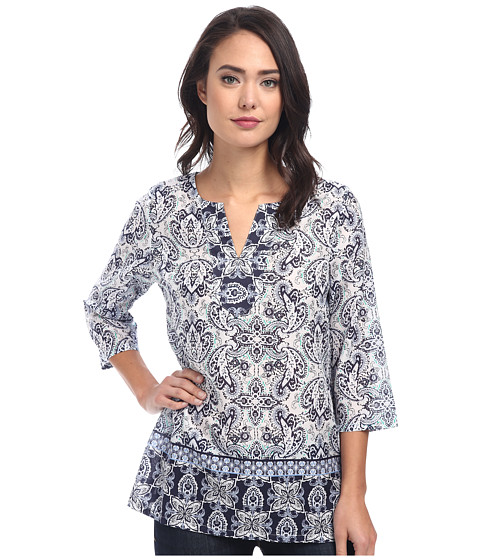Tommy Bahama - Poetto Paisley Tunic (Ocean Deep) Women's Blouse