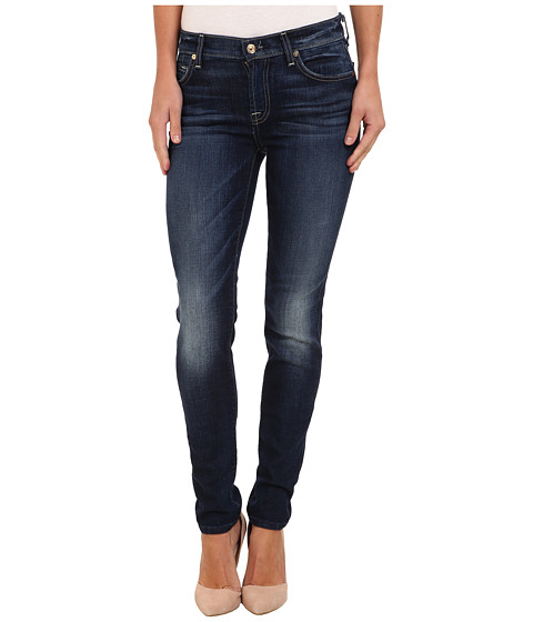 7 For All Mankind - The Slim Cigarette in Monarq Blue (Monarq Blue) Women's Jeans