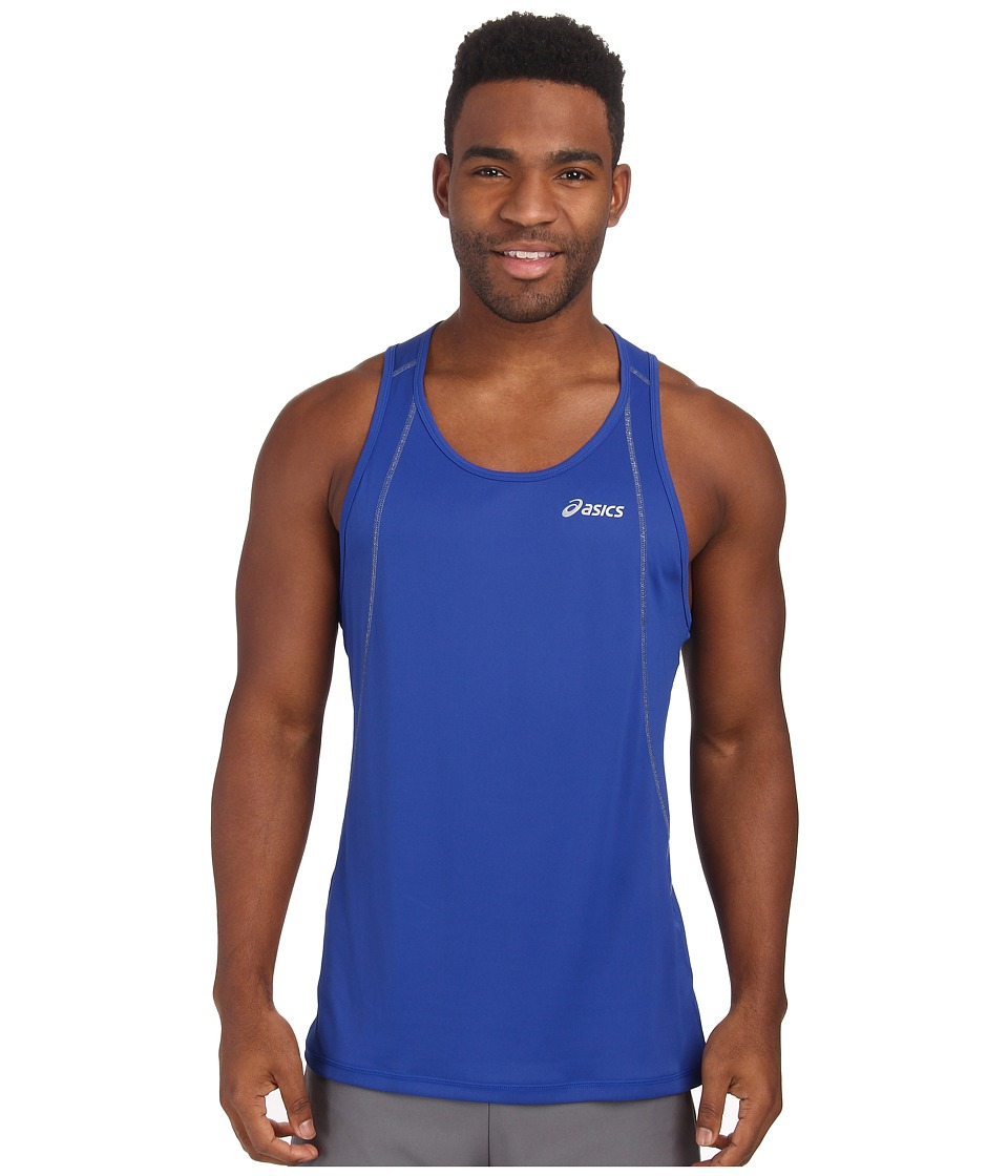 ASICS - Lite-Show Favorite Singlet (Air Force Blue) Men's Workout