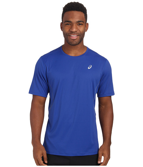 ASICS - Lite-Show Favorite Short Sleeve (Air Force Blue) Men's Workout