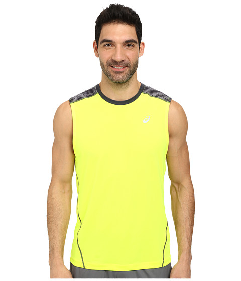 ASICS - PR Lyte Sleeveless (Safety Yellow/Steel Print) Men's Workout