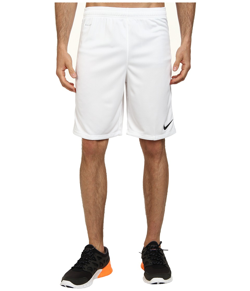 Nike - Academy Longer Knit Short 2 (White/Black/Black) Men's Shorts