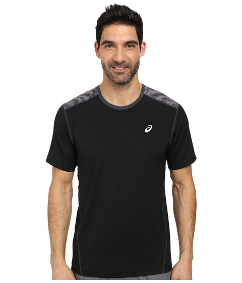 ASICS - PR Lyte Short Sleeve (Black/Steel Print) Men's Workout