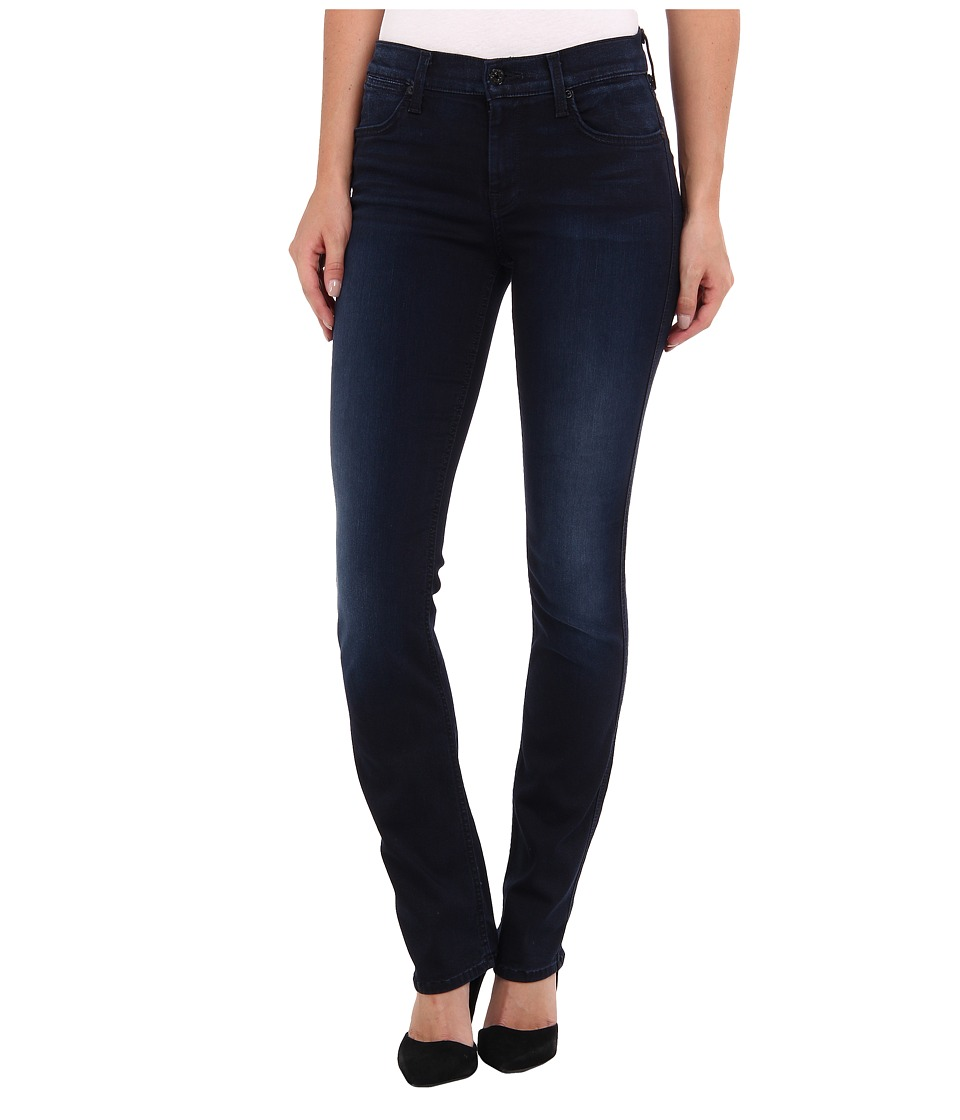 7 For All Mankind - The Modern Straight in Slim Illusion Second Skin Washed Dark (Slim Illusion Second Skin Washed Dark) Women's Clothing