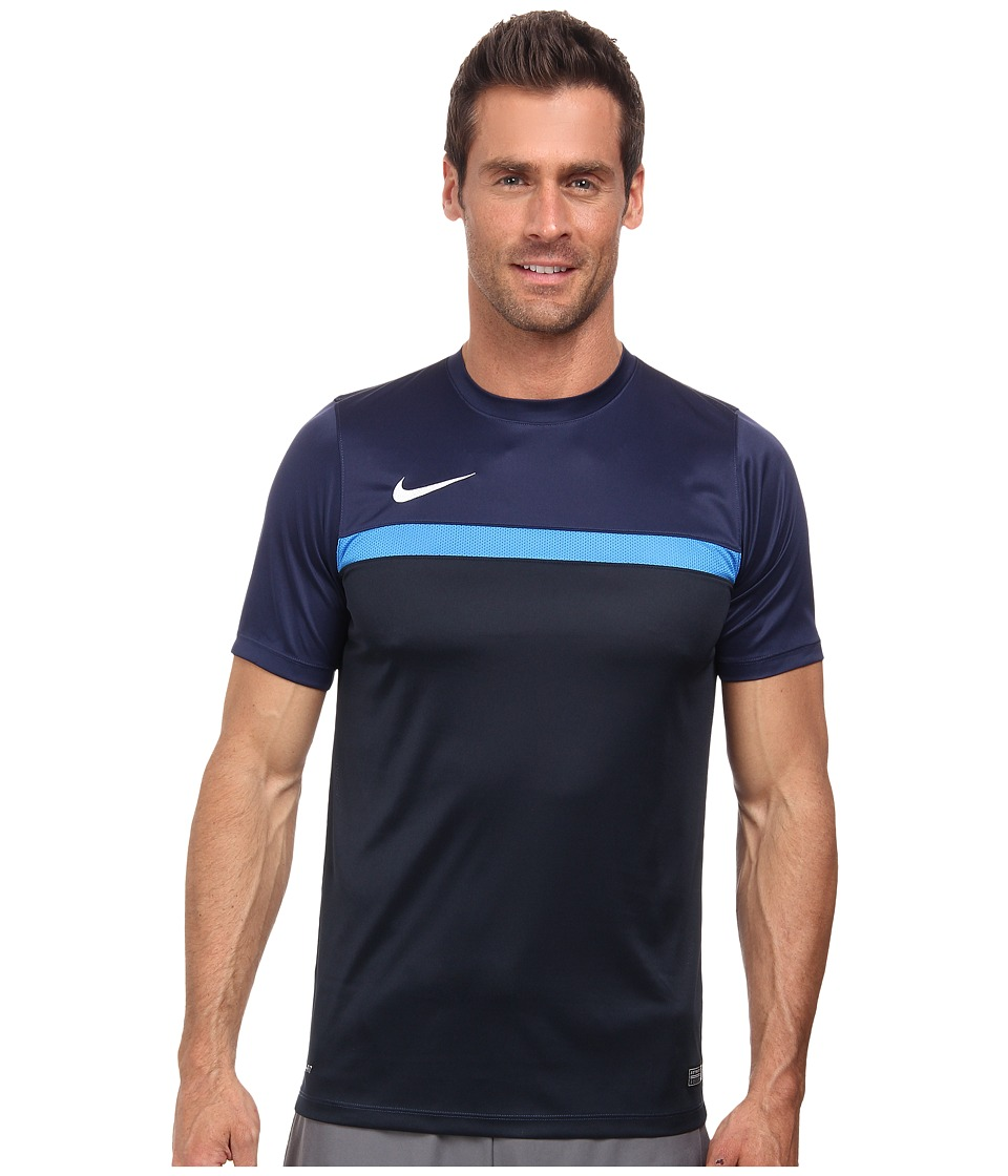 Nike - Academy S/S Training Top 1 (Midnight Navy/Light Photo Blue/Dark Obsidian/White) Men's T Shirt