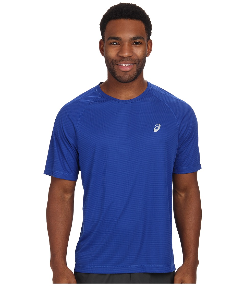 ASICS - Short Sleeve Tee (Air Force Blue) Men's Workout