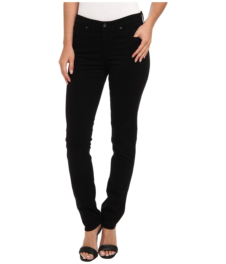 AG Adriano Goldschmied - The Prima Mid-Rise Cigarette Sateen (Super Black) Women's Jeans