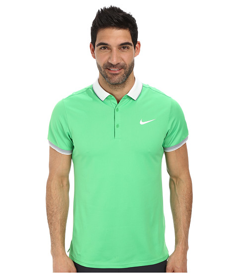 Nike - Court Polo (Light Green Spark/White/White) Men