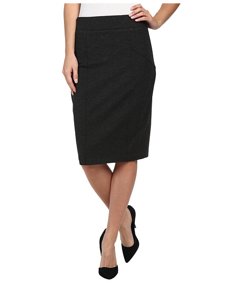 NYDJ - Pull On Ponte Skirt (Charcoal) Women's Skirt