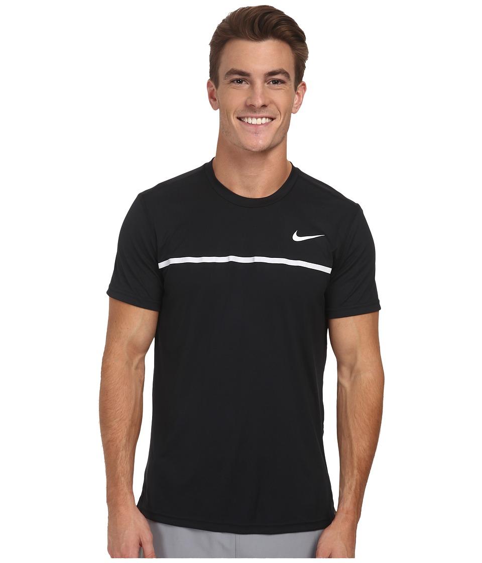 Nike - Challenger Crew (Black/Black/White/White) Men's T Shirt