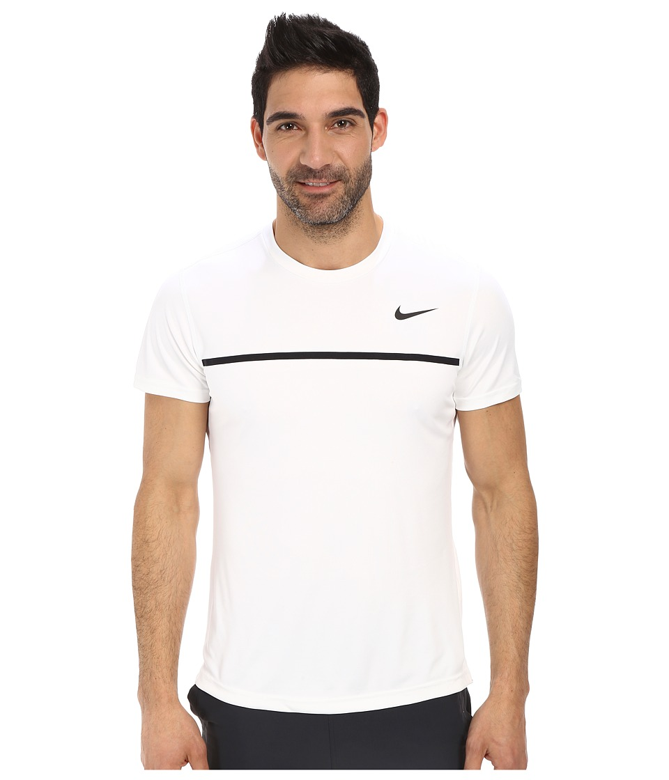 Nike - Challenger Crew (White/White/Black/Black) Men's T Shirt