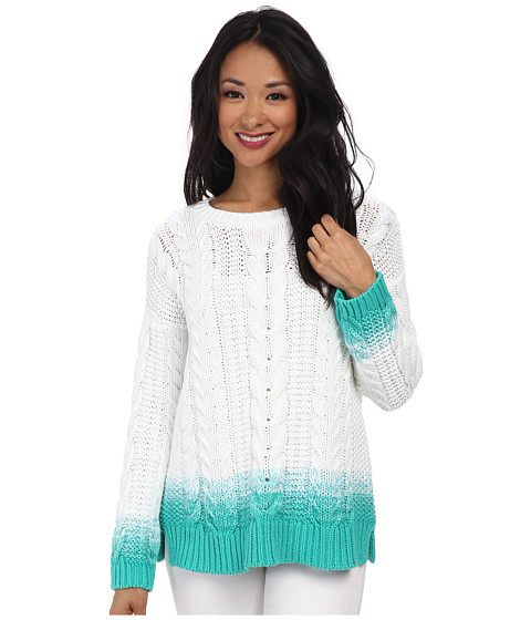 Tommy Bahama - Carmel Cable Ombre Pullover (Teal Blast) Women's Sweater