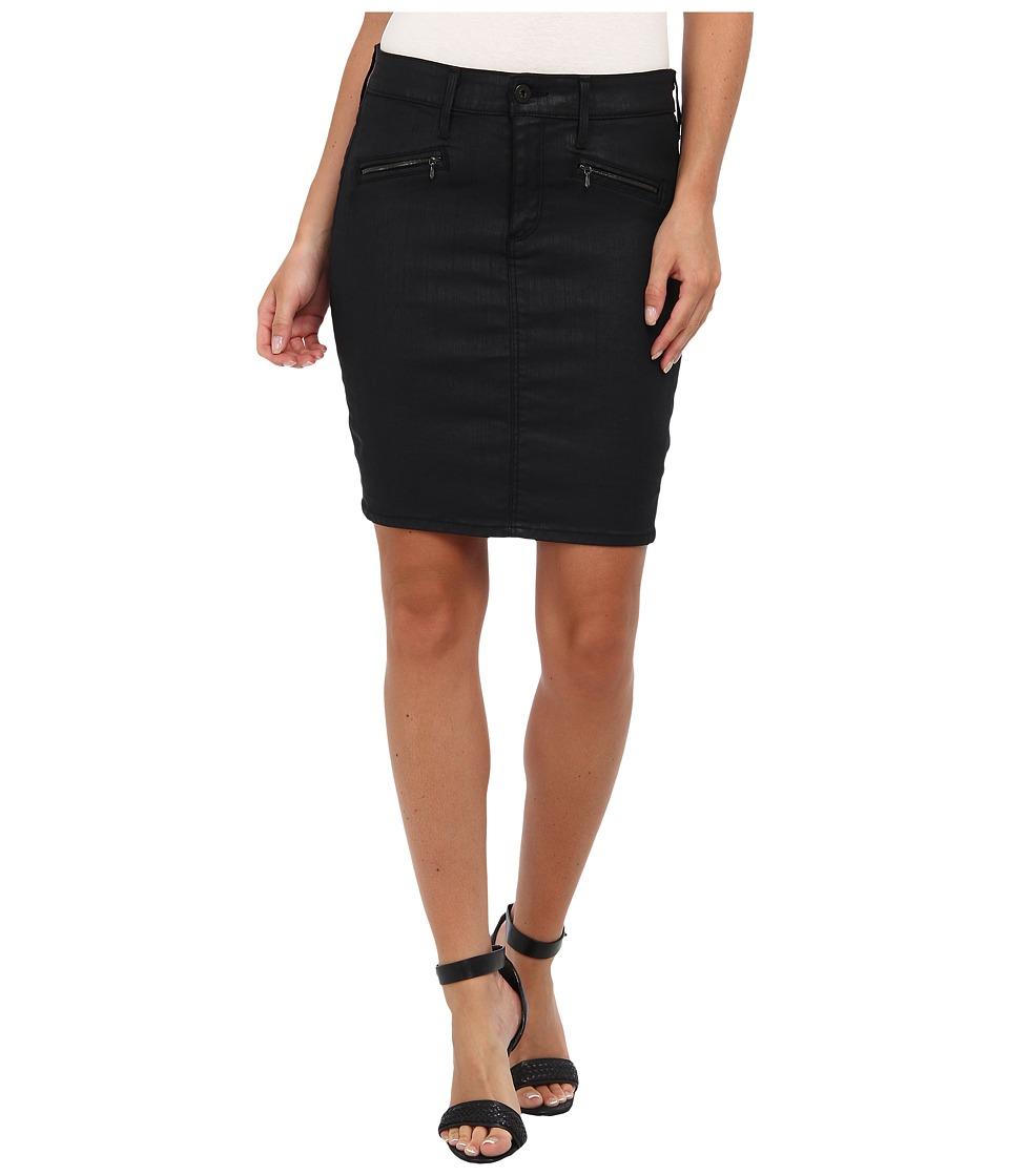 AG Adriano Goldschmied - The Kodie Pencil Skirt in Black Slick (Black Slick) Women's Skirt