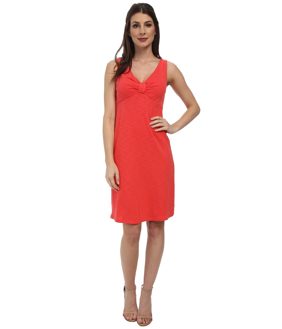 Tommy Bahama - Ashby Rib Vee Dress (Bright Coral) Women's Dress