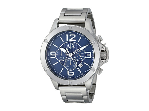 AX Armani Exchange - Wellworn (Silver-Tone) Watches