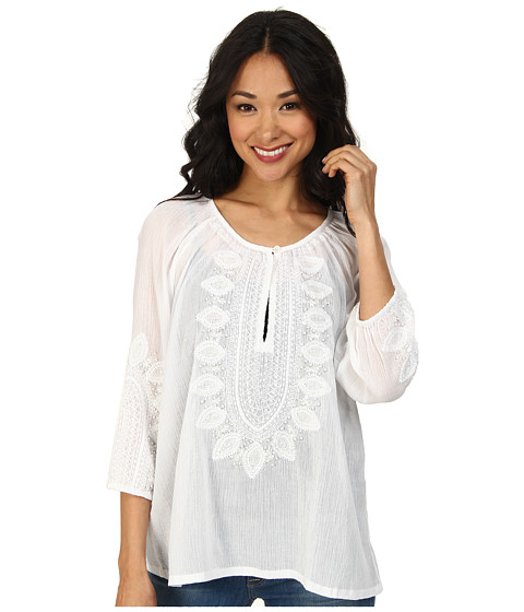 Tommy Bahama - Corrine Gauze Embroidered Tunic (White) Women