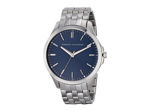 AX Armani Exchange - Hampton LP (Silver-Tone) Watches