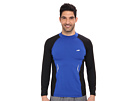 Avia Long Sleeve Compression Top w/ Mock Neck and Heat Transfer (Surf/Black)
