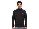 Avia Long Sleeve 1/4 Zip Knit Top/Brushed Stretch Fabric (Black/Surf)