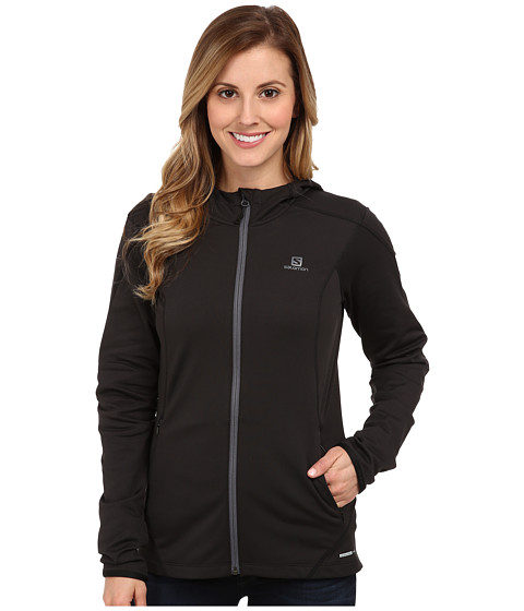 Salomon - Discovery Hooded Midlayer (Black) Women's Coat