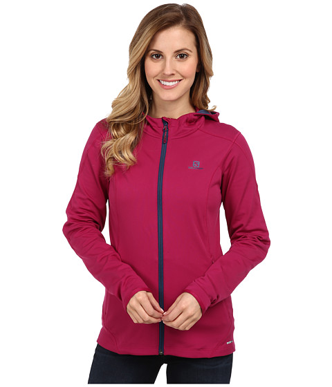 Salomon - Discovery Hooded Midlayer (Mystic Purple) Women's Coat