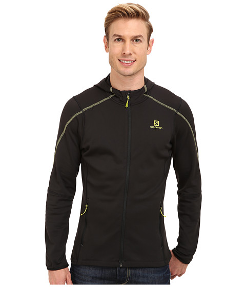 Salomon - Discovery Hooded Midlayer (Black) Men's Clothing