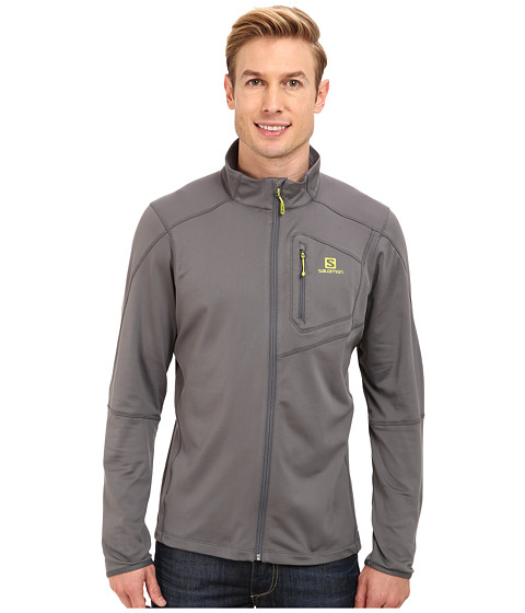 Salomon - Discovery Fz Midlayer (Dark Cloud) Men's Fleece