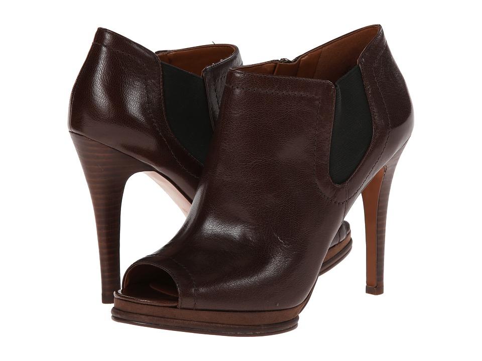 Nine West - Sassy (Dark Brown/Black Leather) Women