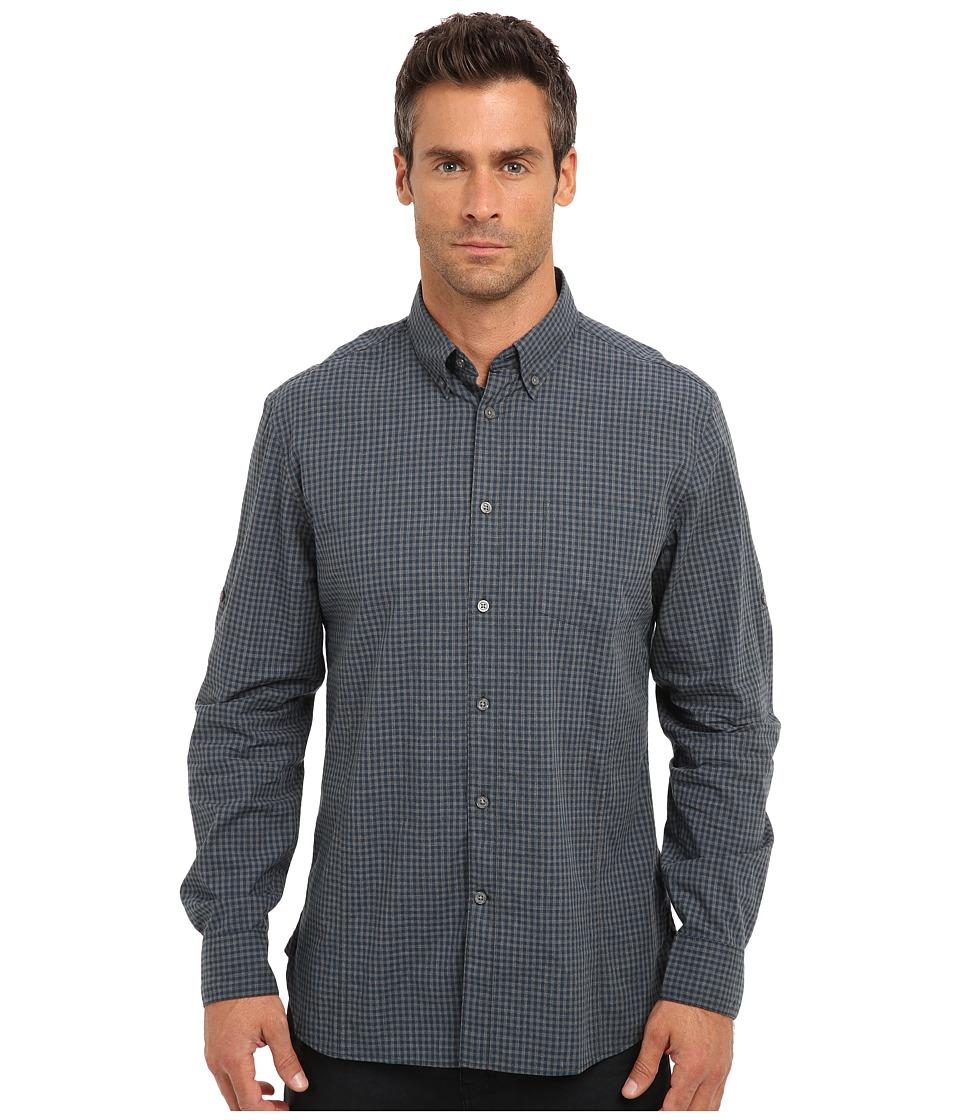 John Varvatos Star U.S.A. - Slim Fit Gingham Roll Sleeve Shirt W387Q3B-51HA (Peacock) Men