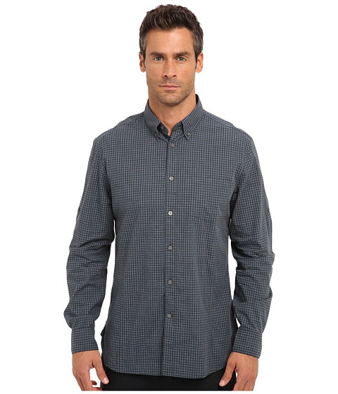 John Varvatos Star U.S.A. - Slim Fit Gingham Roll Sleeve Shirt W387Q3B-51HA (Peacock) Men
