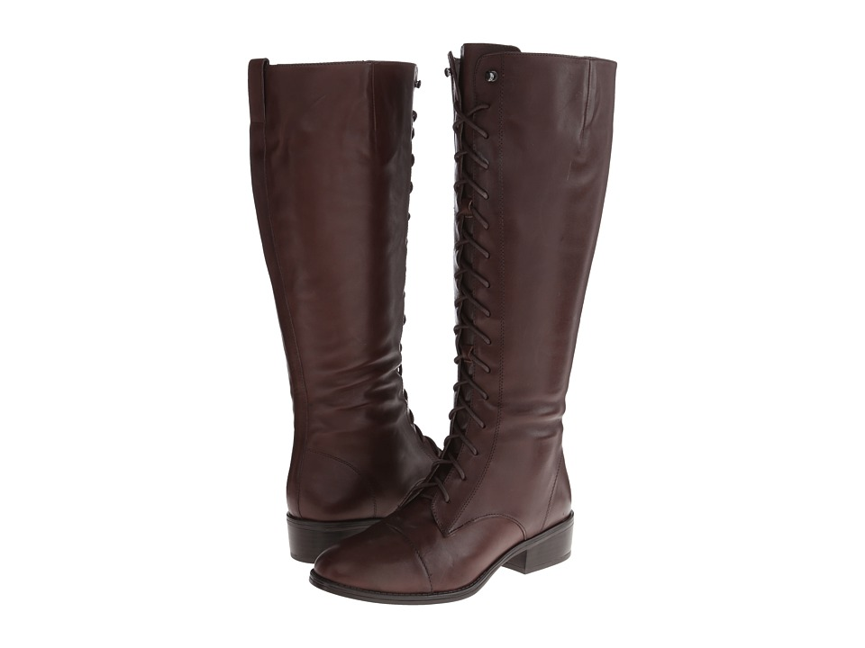 LAUREN Ralph Lauren Martina Wide Calf (Dark Brown) Women