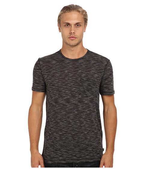 John Varvatos Star U.S.A. - Double Dye S/S Tee K303Q3B-AXX7B (Black Multi) Men's Short Sleeve Knit