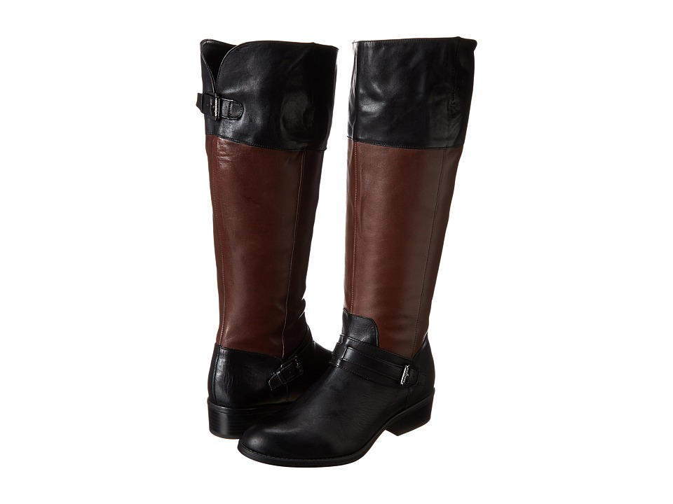 LAUREN Ralph Lauren - Maritza Wide Calf (Black/Dark Brown) Women's Zip Boots plus size,  plus size fashion plus size appare