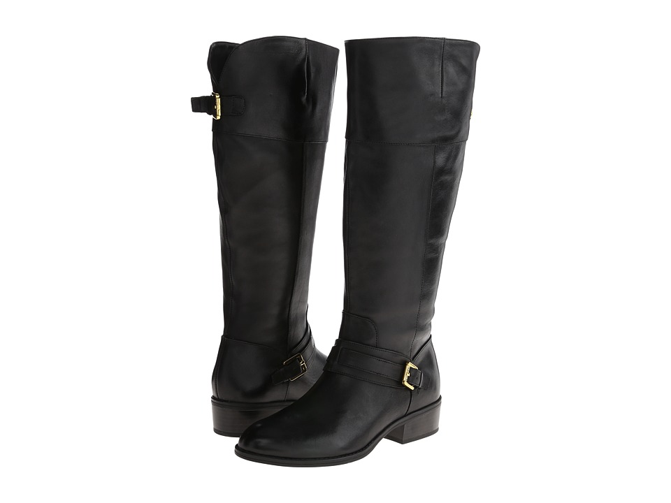 Ralph Lauren Maritza Wide Calf (Black) Women's Zip Boots