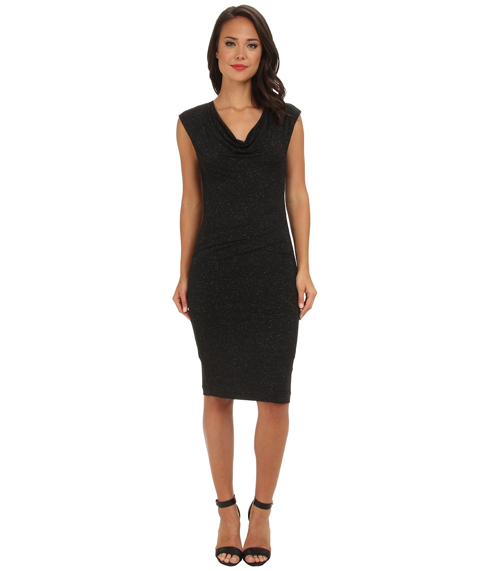 Nicole Miller Karina Rusty Rose Dress (Black) Women