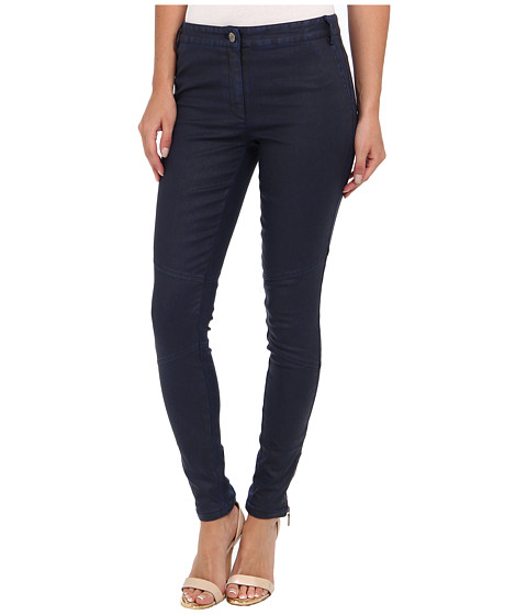 Nicole Miller - Distressed Coated Denim Pant (Navy) Women's Jeans