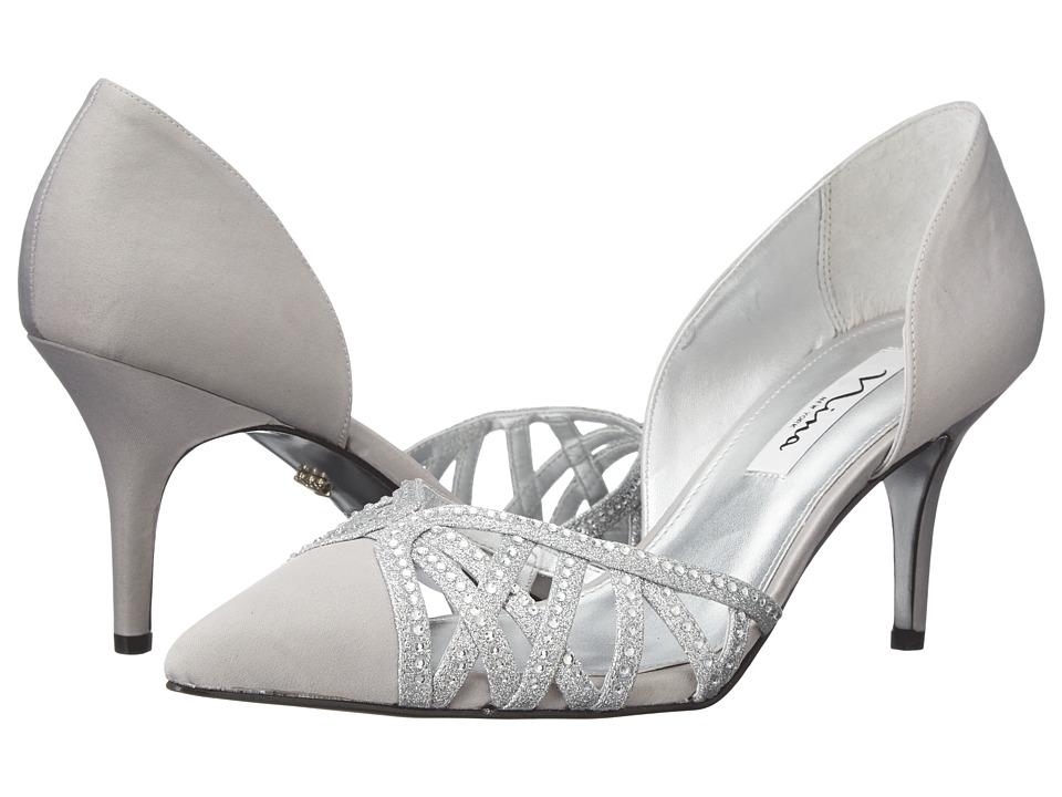 Nina - Teagan (Royal Silver/Clear) Women's Shoes