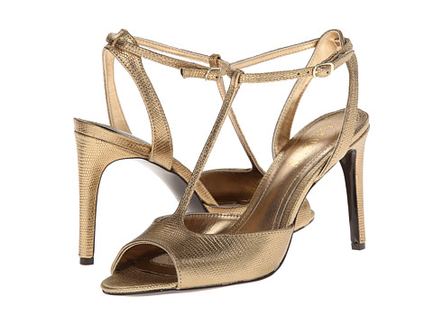 LAUREN by Ralph Lauren - Sedona (Antique Brass Metallic Lizard) High Heels