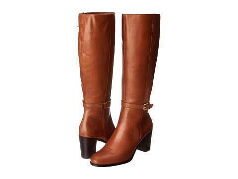 LAUREN by Ralph Lauren - Clare (Polo Tan Burnished Leather) Women's Dress Zip Boots