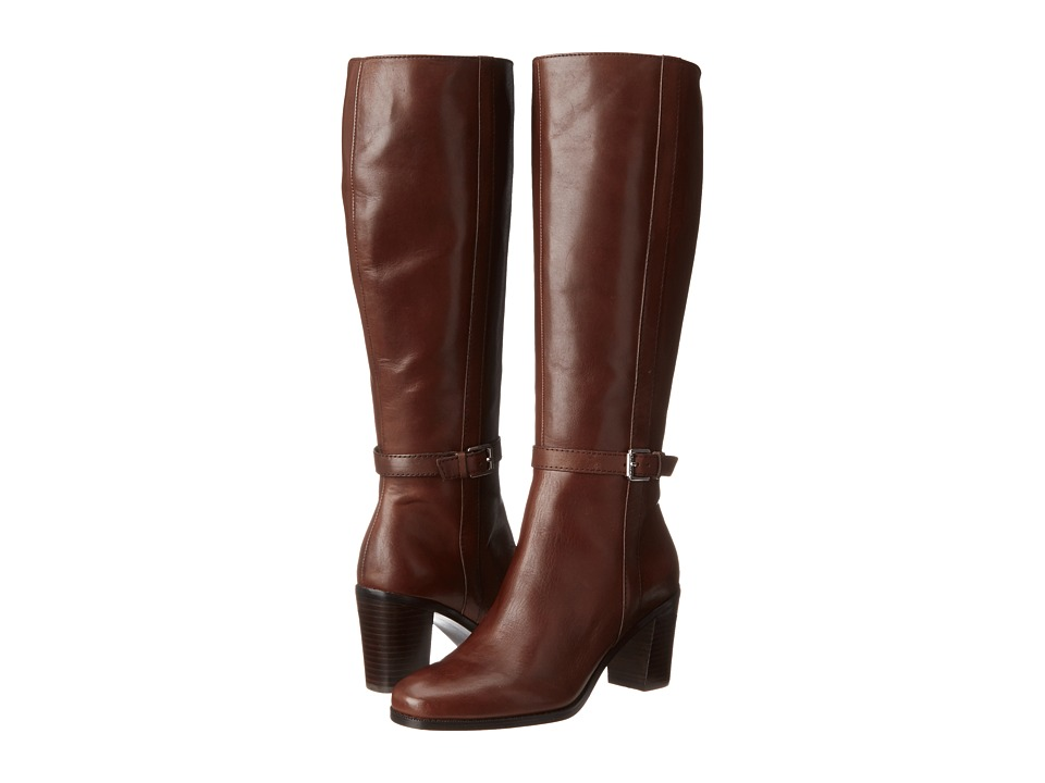LAUREN Ralph Lauren - Clare (Dark Brown Burnished Leather) Women