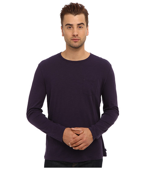 John Varvatos Star U.S.A. - L/S Slub Crew Tee K1481Q3B (Purple Velvet) Men's Long Sleeve Pullover