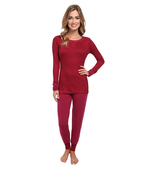 Splendid - Wrapped PJ Set (Rumba Stripe) Women