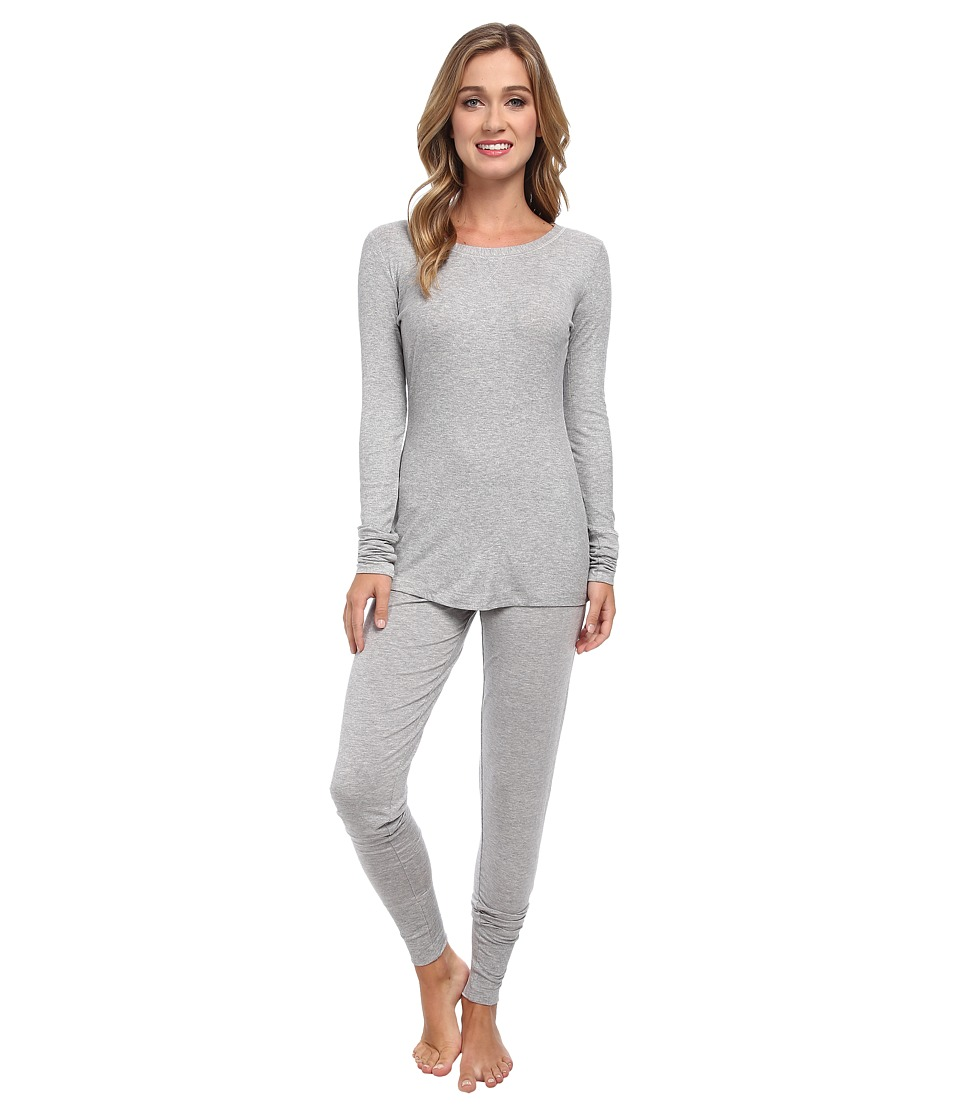 Splendid - Wrapped PJ Set (Medium Heather Grey) Women's Pajama Sets