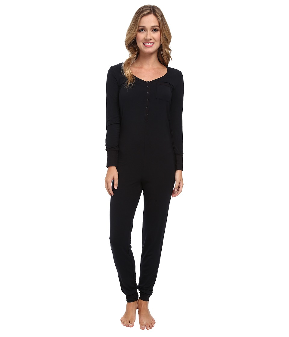 Splendid - Long Sleeve Romper (Black) Women's Jumpsuit & Rompers One Piece