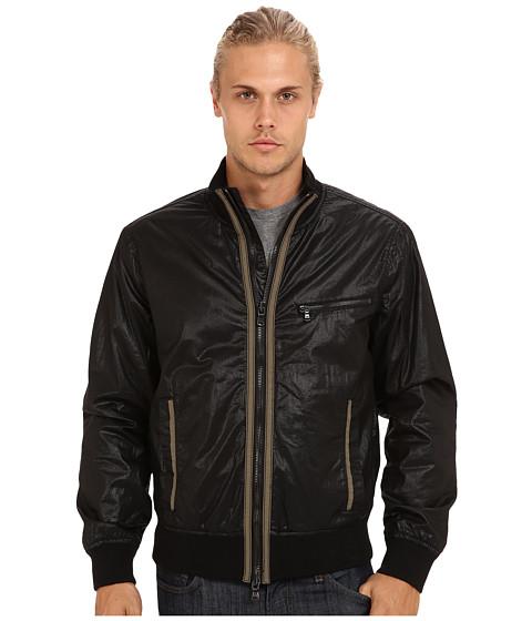 John Varvatos Star U.S.A. - Lightweight Rib Trimmed Bomber Jacket w/ Contrast Trim Details O997Q3B (Black) Men's Clothing
