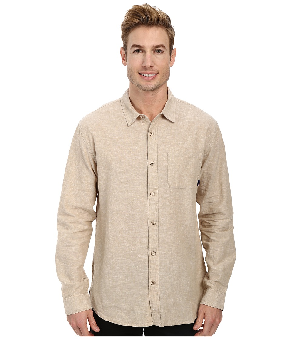 Jack O'Neill - Inlet L/S Woven Shirt (Khaki) Men's Long Sleeve Button Up